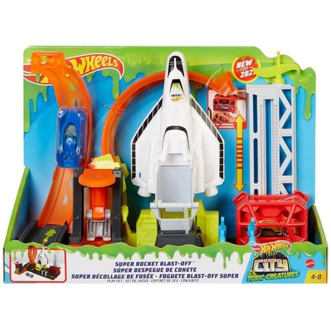 Hot Wheels City Super Rocket Blast Off Σετ Παιχνιδιού - GTT75
