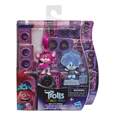 Trolls Dreamworks World Tour Bobble Head 2 - Rock City Bobble - E7955