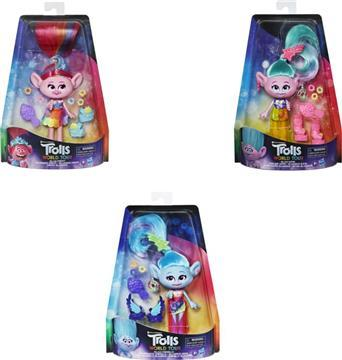 Trolls Deluxe Fashion Dolls-3 Σχέδια - E6569