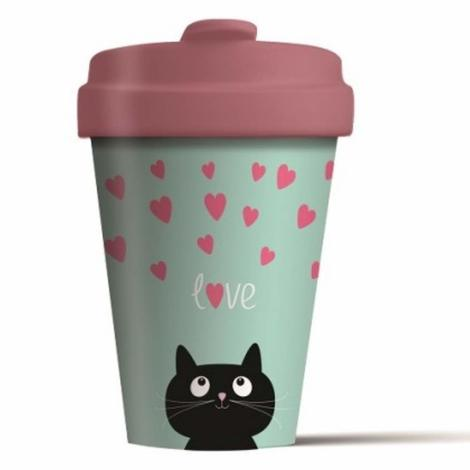 BAMBOO CUP  KITTY LOVE - (BCP210)