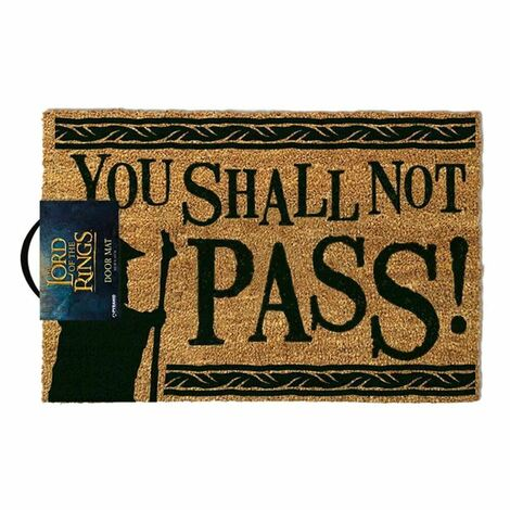 Lord of the Rings Doormat You Shall Not Pass 40 x 60 cm - GP85071
