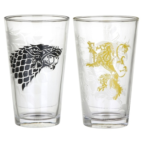 Game of Thrones Lannister & Stark σετ 2 ποτήρια - (GL02GT01)