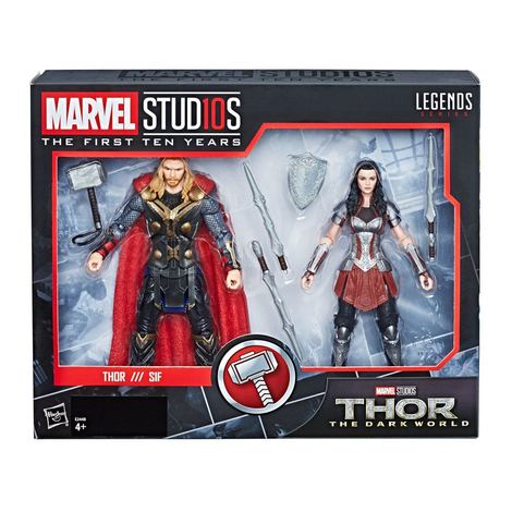 Thor -The Dark World Marvel Legends Series Action Figure 2-Pack Thor & Sif 15 cm - HASE2448
