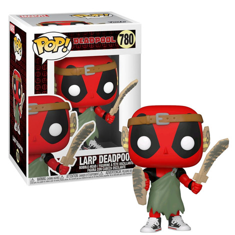 POP!Marvel Deadpool 30th - Larp  Deadpool Bobble-head #780#