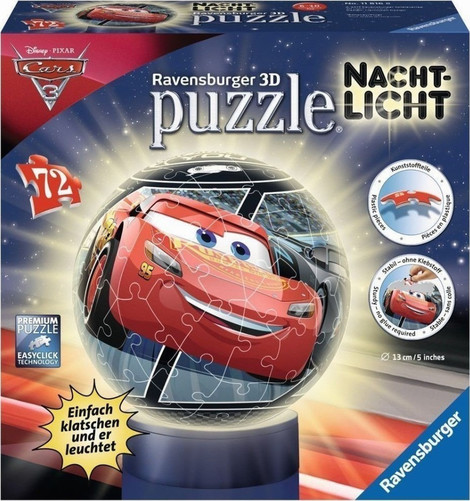 Cars 3 3D Puzzle Ball 72pcs - 11816