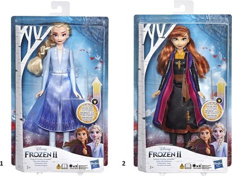 Disney Frozen II Κούκλα Light Up Fashion - 2 Σχέδια - E6952