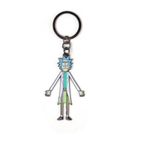 Μπρελόκ Rick & Morty - Rick with movable head Metal