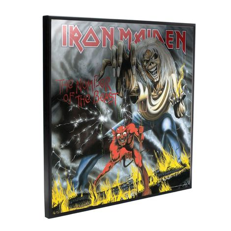 Iron Maiden Crystal Clear Picture Number of the Beast 32 x 32 cm - NEMN-B4390M8
