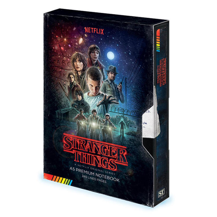 Stranger Things (VHS) A5 Notebook