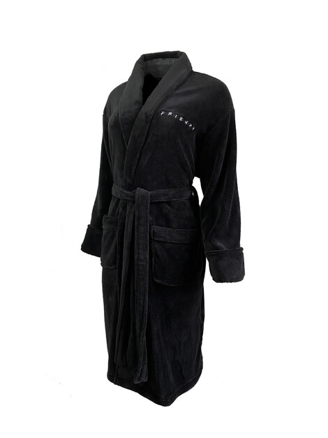 Friend Logo Black No Hood Ladies Robe Adult One Size - FR93287