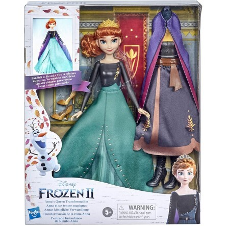 Disney Frozen 2 Annas Queen Transformation Fashion Doll With 2 Outfits And 2 Hair Styles - E9419