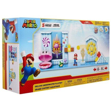 World of Nintendo Super Mario Deluxe Playset Underwater - JPA400252