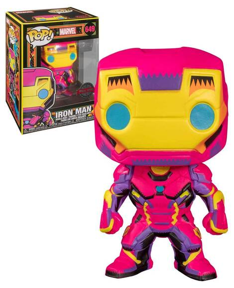 POP! Φιγούρα Vinyl Iron Man Black Light Exclusive #649