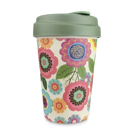 BAMBOO CUP FLOWER POWER - (BCP234)