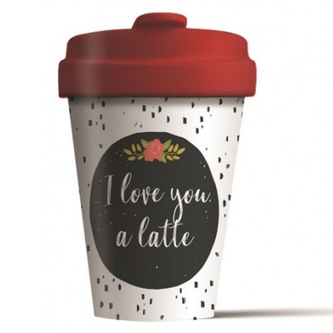 BAMBOO CUP LOVE YOU LATTE - (BCP271)
