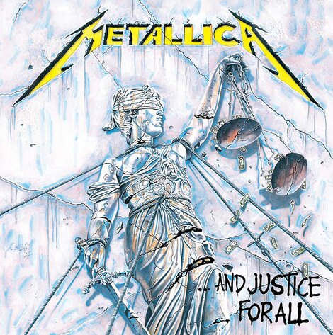 Metallica Framed Canvas Print Justice for All 40 x 40 cm - DC95985C