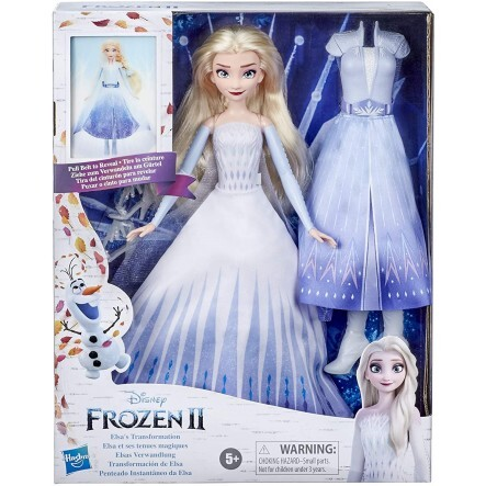Disneys Frozen 2 Elsas Transformation Fashion Doll With 2 Outfits And 2 Hair Styles - E9420