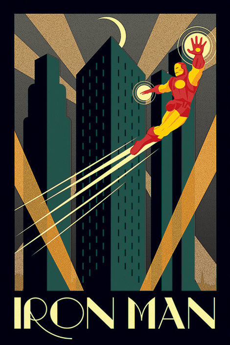 Marvel Deco (Iron Man) - 61 x 91.5cm