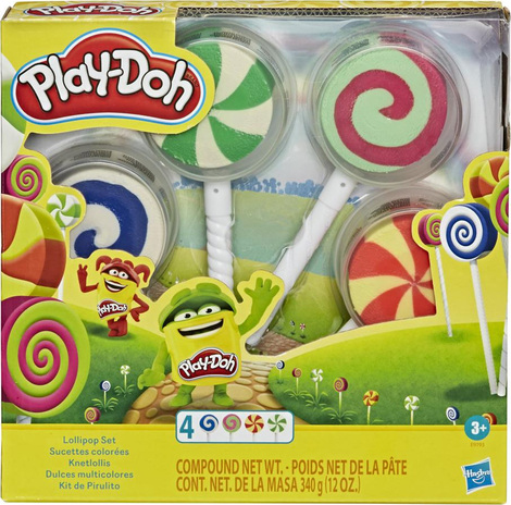 Play-Doh Lollipop 4-Pack Of Pretend Play Candy Molds - E9193