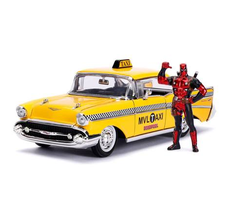 Deadpool Diecast Model 1/24 Deadpool Yellow Taxi - JADA30290