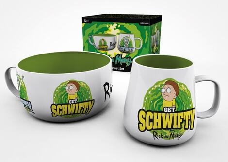 Rick and Morty Breakfast Set Get Schwifty - GYE-BS0030