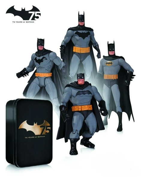 Batman 75th Anniversary Action Figure 4 - Pack