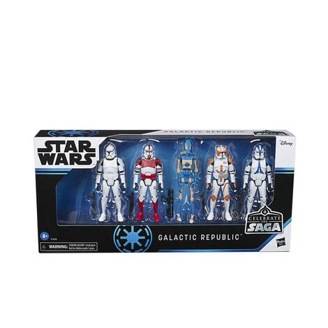 Star Wars Celebrate the Saga Action Figures 5-Pack Galactic Republic 10 cm - F1418