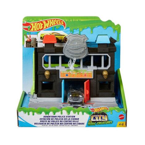 Hot Wheels City Βασικές Πίστες: Downtown Police Station - GYP38