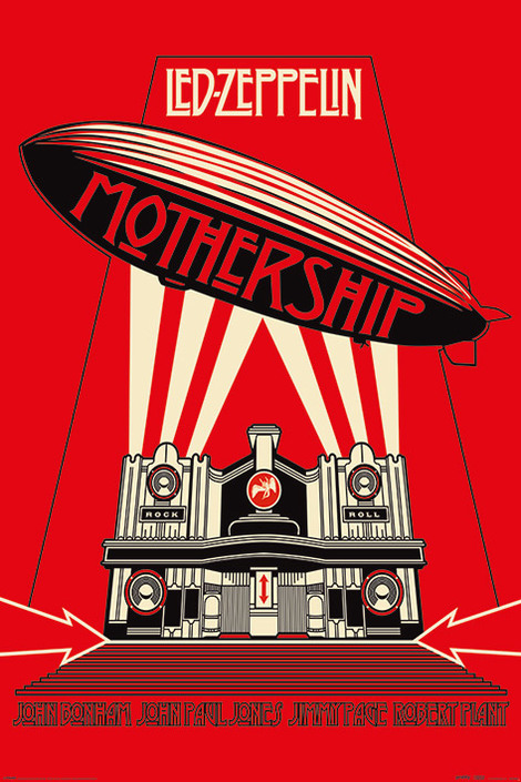 Led Zeppelin (Mothership Red) - 61 x 91.5cm