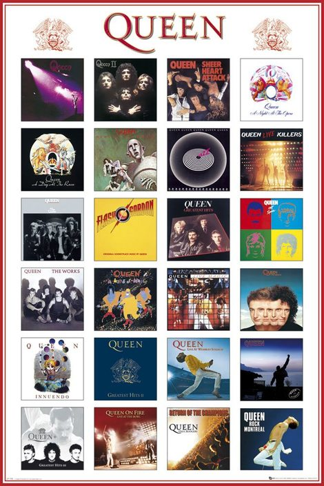 Queen Poster Pack Covers 61 x 91 cm (5 pieces) - GYE-LP1158