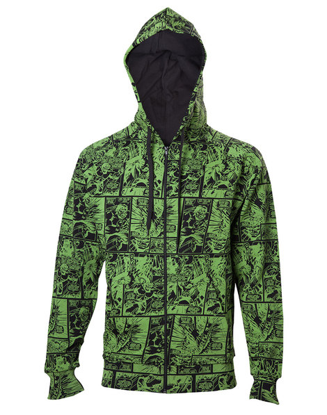 Marvel - The Hulk Comic Book Pattern Hoodie - HD031106MAR