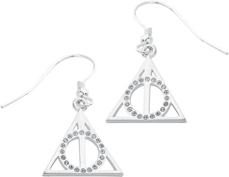 Deathly Hallows Sterling Silver Swarovski® Earrings + Box - EHPSE002