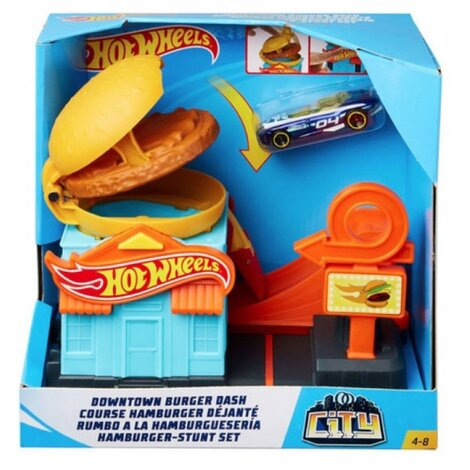 Hot Wheels City Downtown Playset - Burger Dash - GPD09