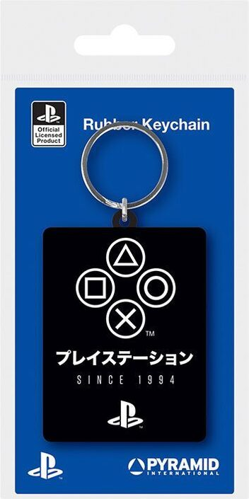 Sony PlayStation Rubber Keychains Since 1994 6 cm Case - RK39160C