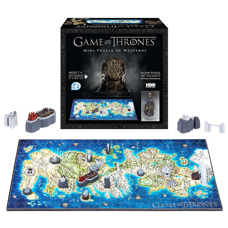 Puzzle 4D Game Of Thrones - Map of Westeros 350pcs - DC51001