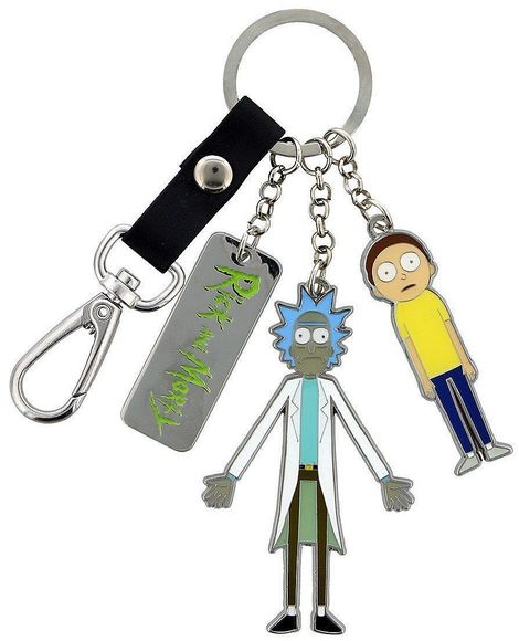 Μπρελόκ Rick & Morty and Logo Metal