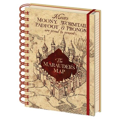 Harry Potter (The Marauders Map)  A5 Notebook - SR72325
